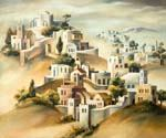 Suburb of Jerusalem by  Dan Livni (Painting ID: AD-0310-KA)