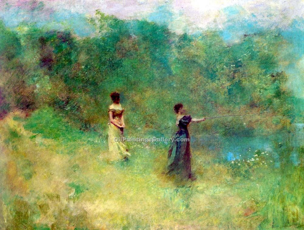 """Summer 78"" by  Thomas Wilmer Dewing"