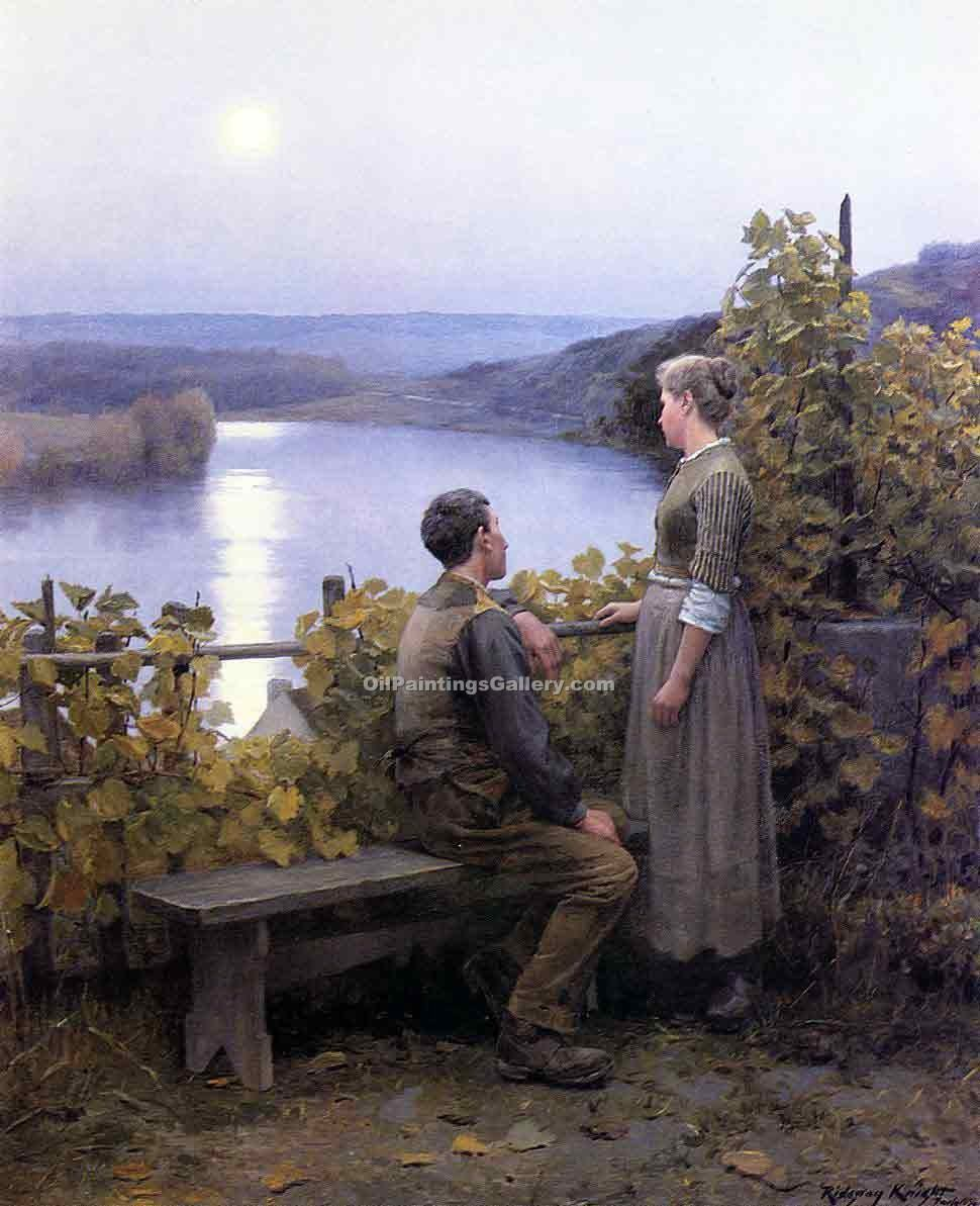 Summer Evening by Daniel RidgwayKnight | Landscape Art - Oil Paintings Gallery