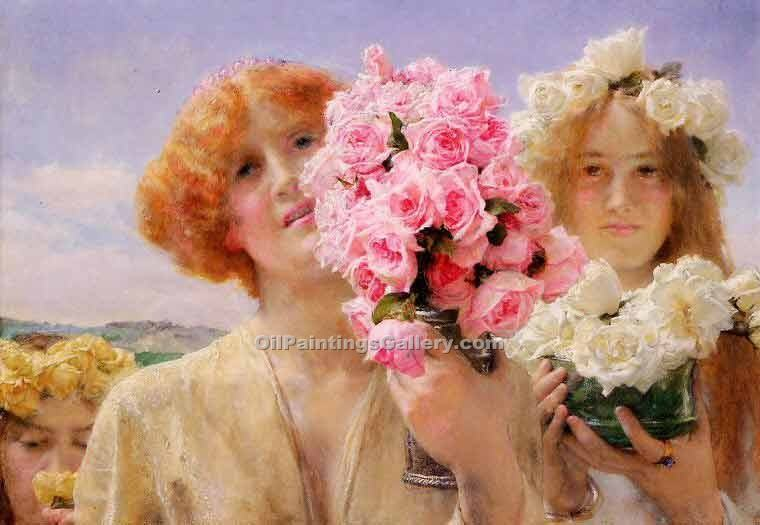 Summer Offering by Sir LawrenceAlma Tadema | Oil Painting Gallery - Oil Paintings Gallery