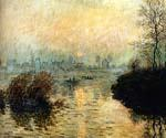 Sun Setting Over The Seine At Lavacourt, Winter by  Claude Monet (Painting ID: MO-0916-KA)