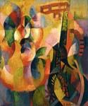 Sun Tower Airplane by  Robert Delaunay (Painting ID: AB-0219-KA)