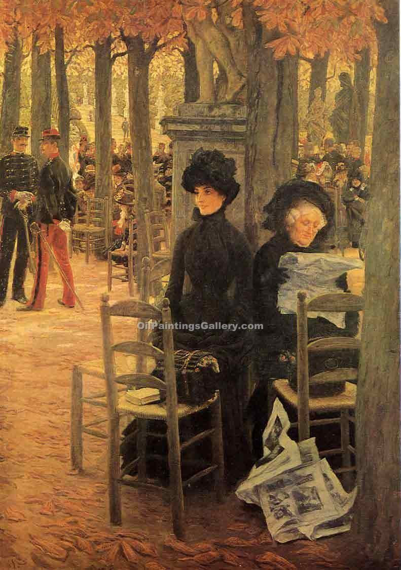 """Sunday in the Luxembourg Gardens"" by  James Tissot"