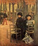 Sunday in the Luxembourg Gardens by  James Tissot (Painting ID: CL-4272-KA)