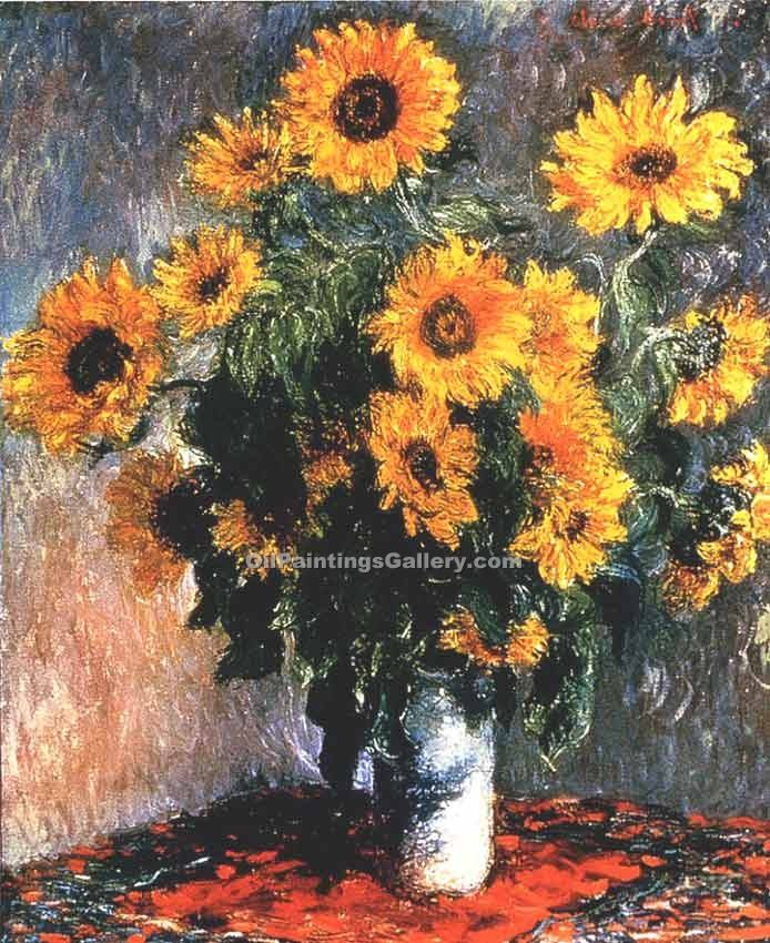 """Sunflowers 94"" by  Claude Monet"