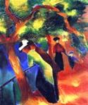 Sunlight Walk by  August Macke (Painting ID: EI-0336-KA)