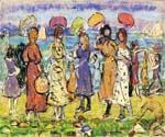 Sunny Day at the Beach by  Maurice Brazil Prendergast (Painting ID: CL-4636-KA)