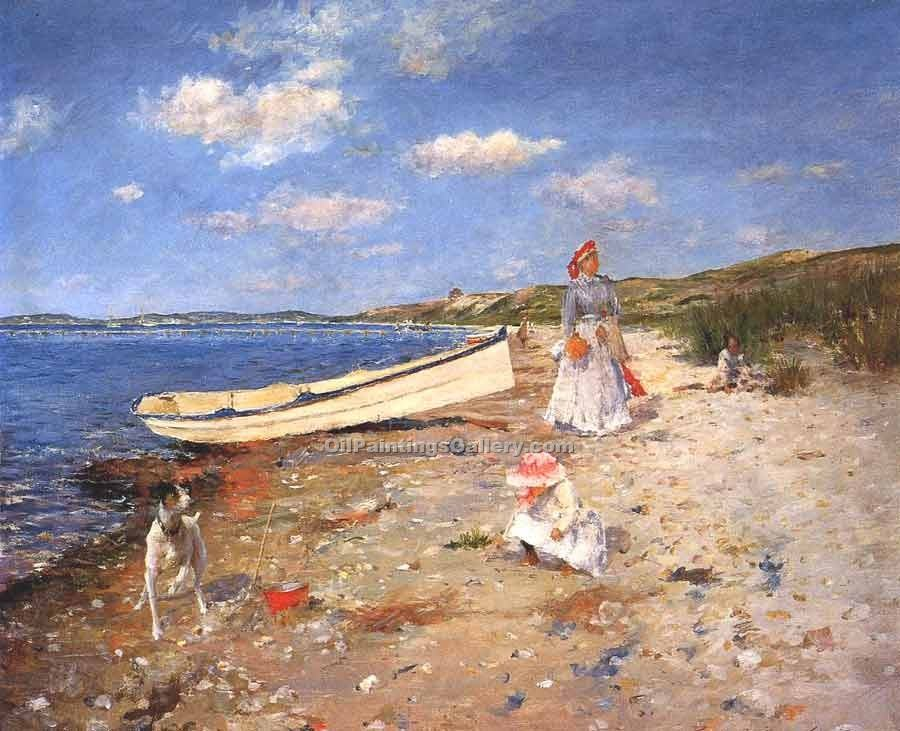 """Sunny Day in Shinnecock"" by  William Merritt Chase"