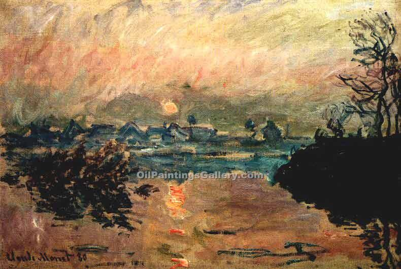 """Sunset 00"" by  Claude Monet"