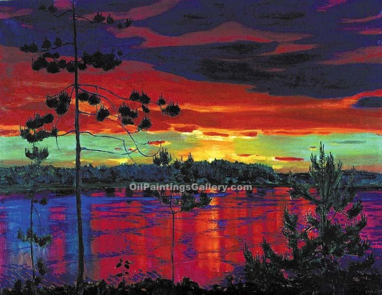 Sunset 06Arkady Alexandrovich Rylov | Modern Art Online Gallery - Oil Paintings Gallery