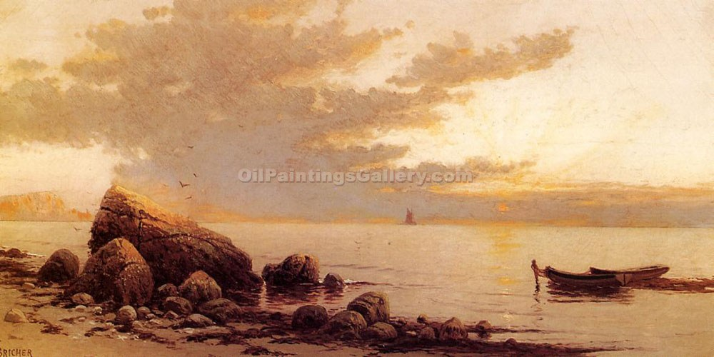 """Sunset 11"" by  Alfred Thompson Bricher"