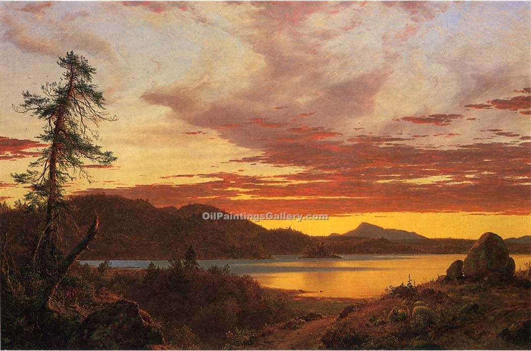 """Sunset 20"" by  Frederic Edwin Church"