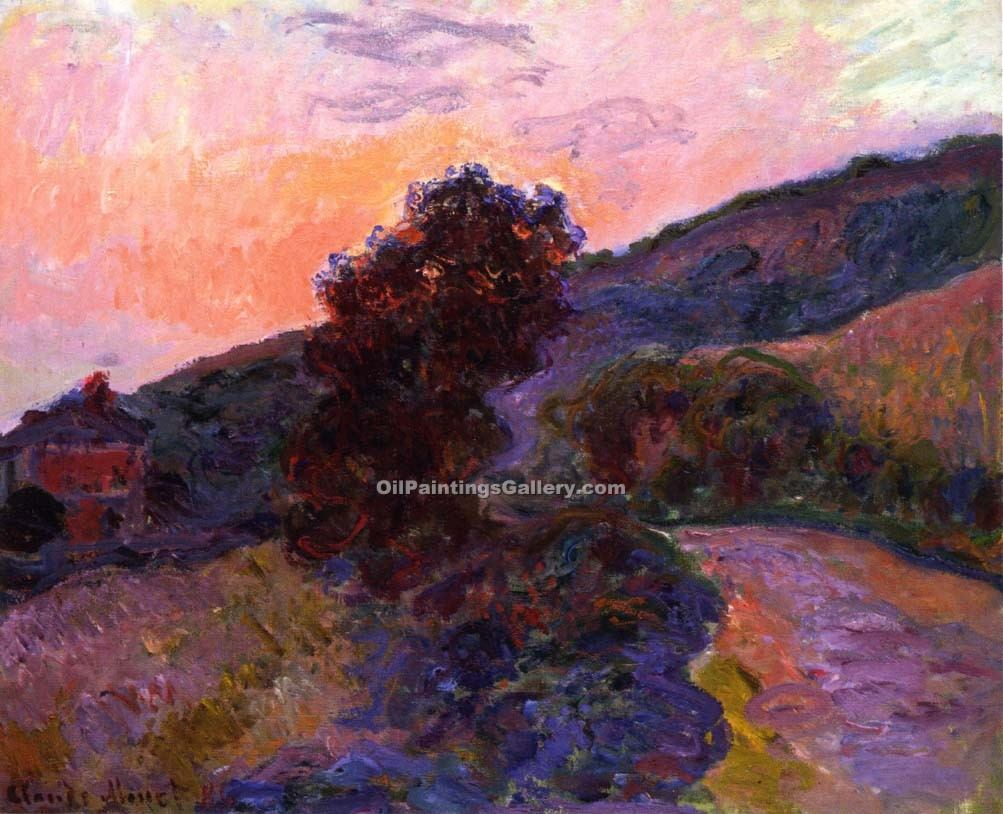 """Sunset at Giverny"" by  Claude Monet"