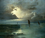 Sunset at Sea with a Thunder Storm by  Andreas Achenbach (Painting ID: LA-2241-KA)
