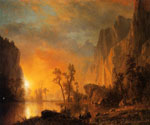 Sunset in the Rockies by  Albert Bierstadt (Painting ID: LA-3403-KA)