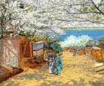 Sunshine and Cherry Blossoms, Nogeyama, Yokohama by  Theodore Wores (Painting ID: LA-2876-KA)