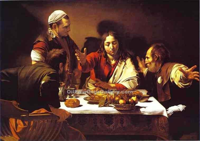 """Supper at Emmaus 32"" by    Caravaggio"