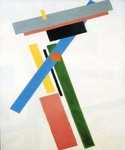 Suprematism Construction by  Kasimir Malevich (Painting ID: AB-0646-KA)