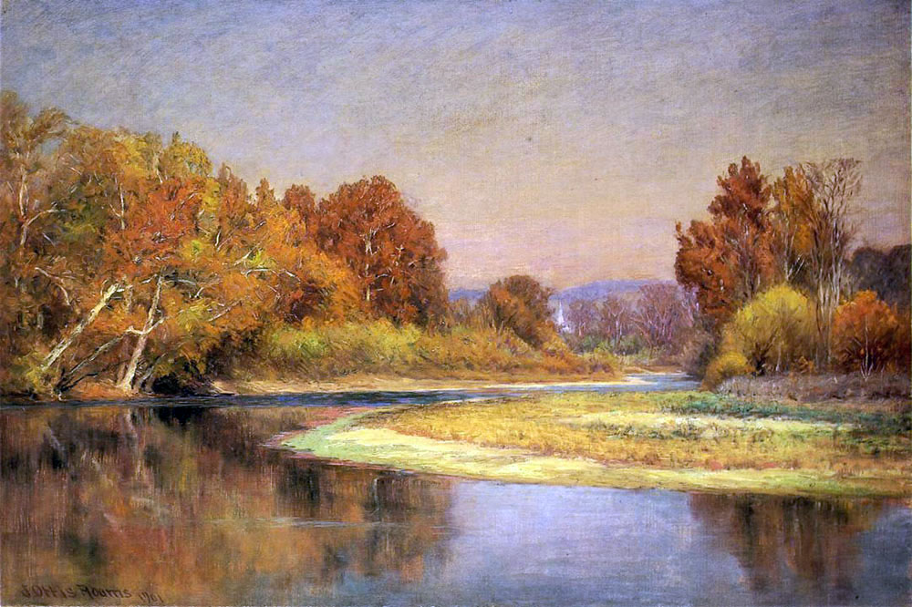 """Sycamores on the Whitewater"" by  John Ottis Adams"