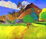 Tahitian Landscape by  Paul Gauguin (Painting ID: GA-0211-KA)