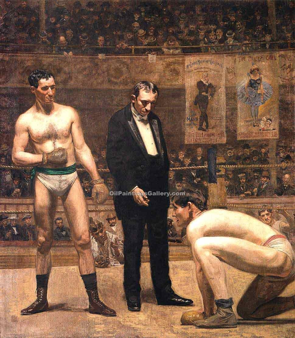 """Taking the Count"" by  Thomas Eakins"