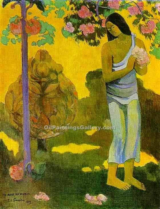 """Te avae no Maria 16"" by  Paul Gauguin"