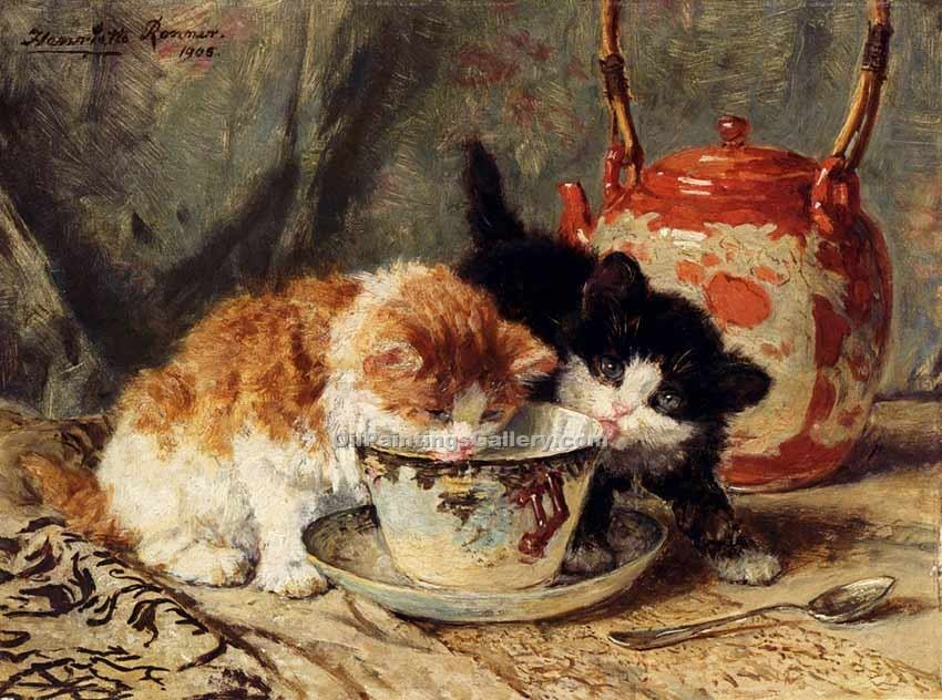 """Tea Time 96"" by  Henriette Ronner Knip"
