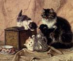 Teatime For Kittens by  Henriette Ronner Knip (Painting ID: AN-1095-KA)