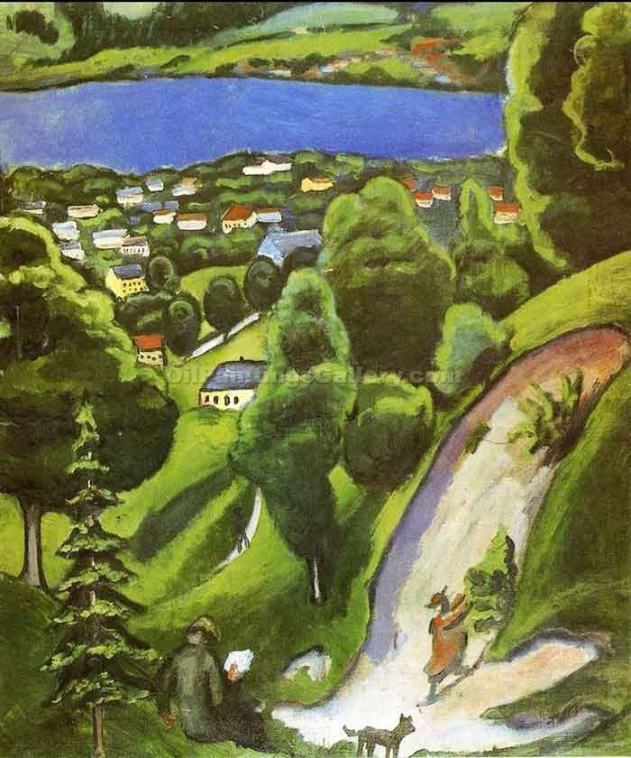 """Tegernsee Landscape"" by  August Macke"