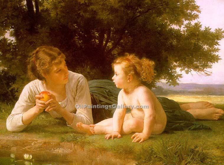 """Temptation"" by  Adolphe Bouguereau"