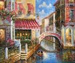 Terrace Cafe in Venice  (Painting ID: CI-1607-KA)