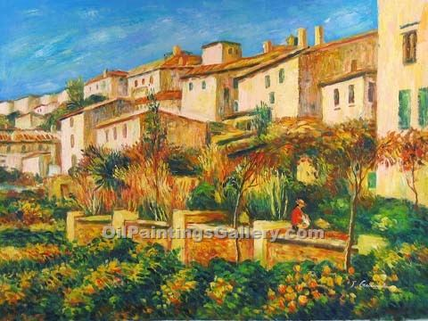 """Terrace at Cagnes"" by  Pierre Auguste Renoir"