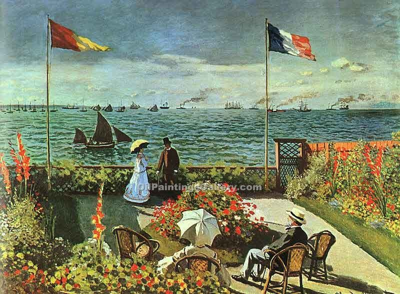 """Terrace at St Adresse"" by  Claude Monet"