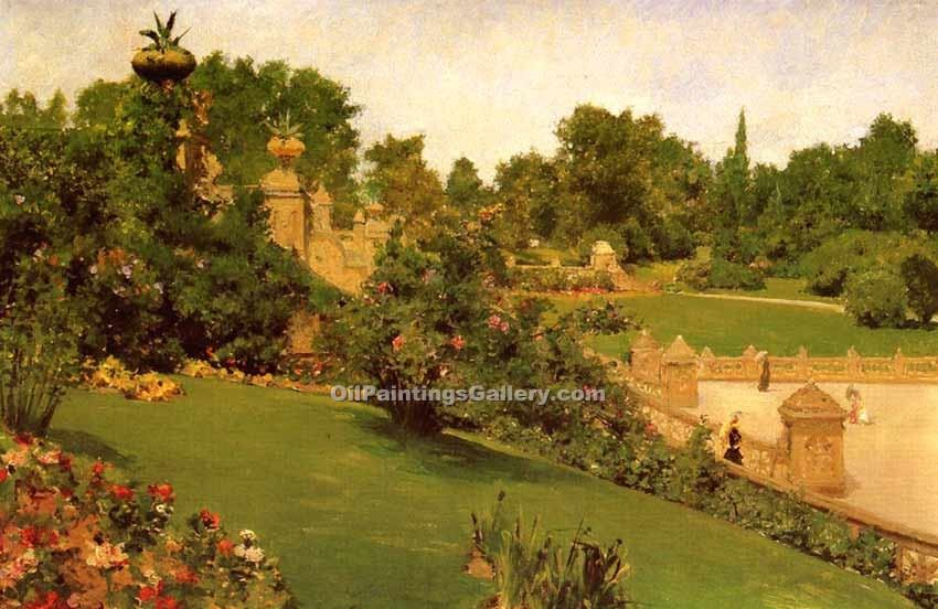 """Terrace at the Mall"" by  William Merritt Chase"