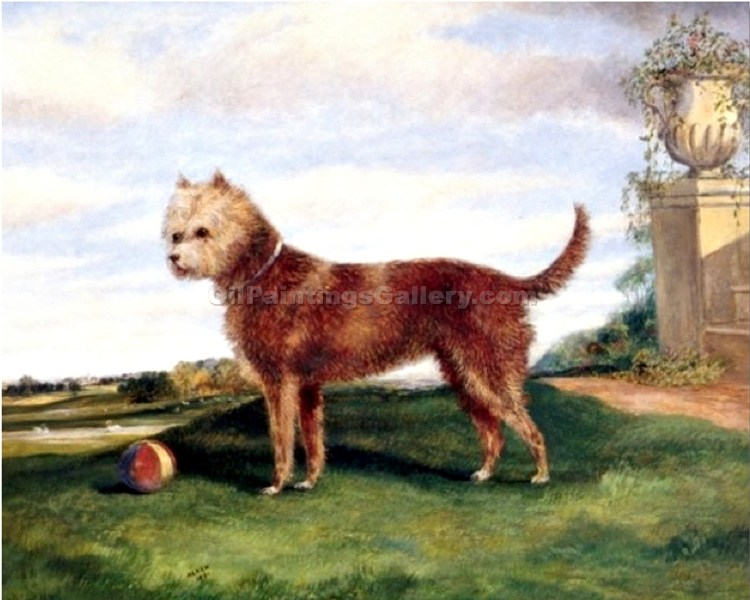 """Terrier with Ball"" by  Samuel Henry Alchen"