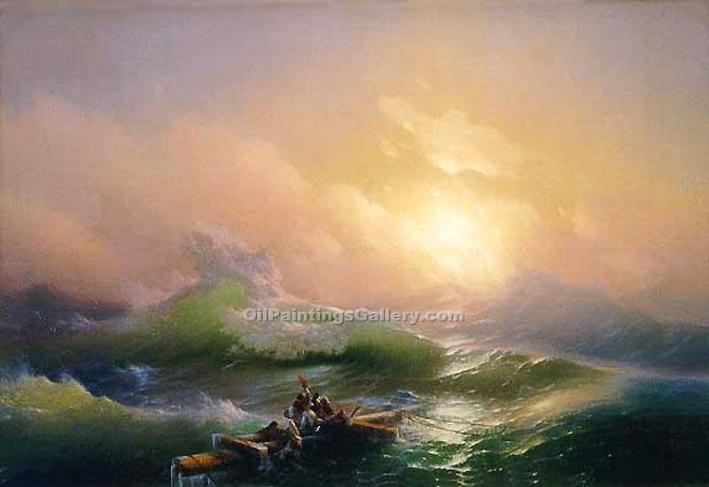The 9th Wave by Ivan Aivazovsky | Modern Painting Gallery - Oil Paintings Gallery