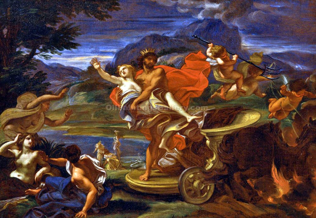 """The Abduction of Proserpine"" by  Baciccio"