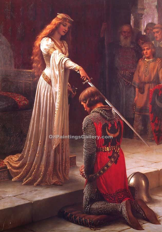 """The Accolade "" by  Blair Leighton Edmund"