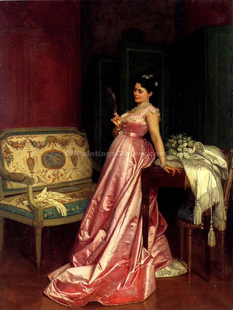 """The Admiring Glance"" by  Auguste Toulmouche"