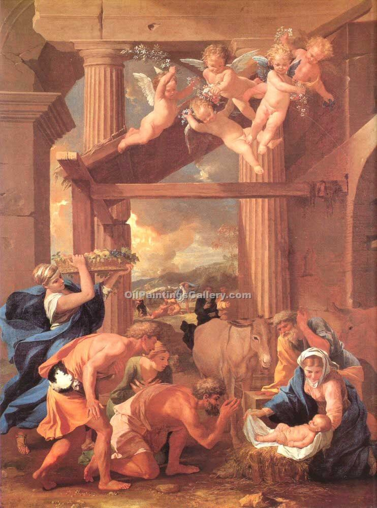 """The Adoration of the Shepherds 05"" by  Nicolas Poussin"