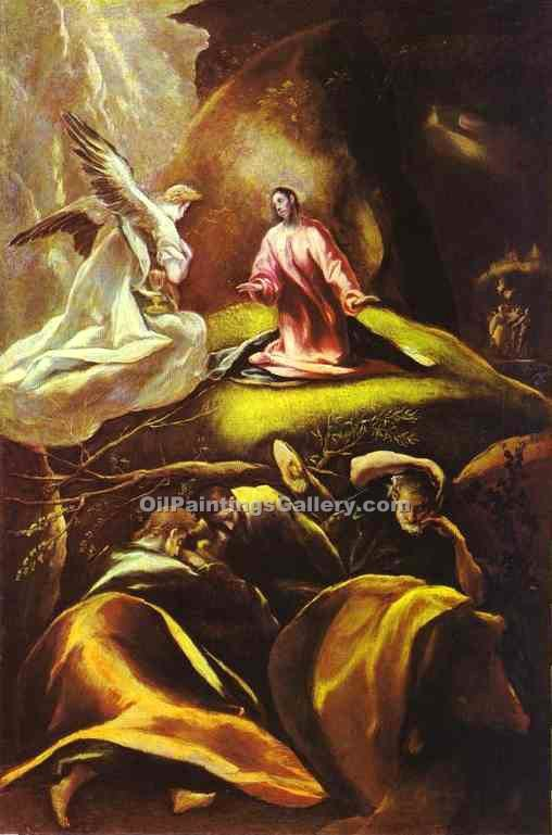 The Agony in the Garden by El Greco | Modern Art Online Gallery - Oil Paintings Gallery