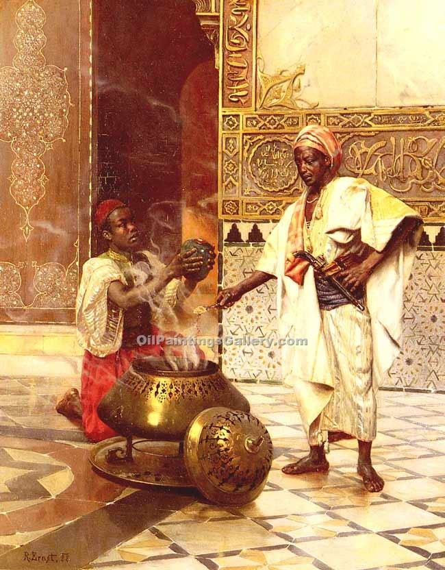 """The Alahambra"" by  Rudolf Ernst"