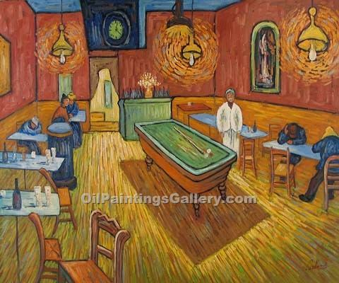 """The All Night Cafe 1888"" by  Vincent Van Gogh"