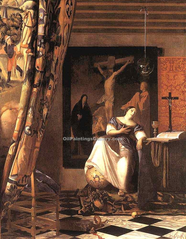 """The Allegory of the Faith"" by  Jan Vermeer"
