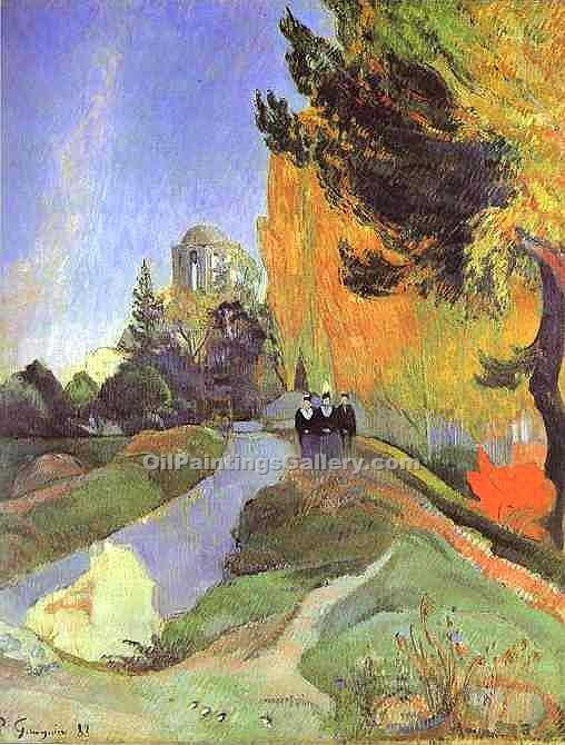 """The Alyscamps"" by  Paul Gauguin"