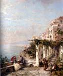 The Amalfi Coast by  Franz Richard Unterberger (Painting ID: LA-1210-KA)