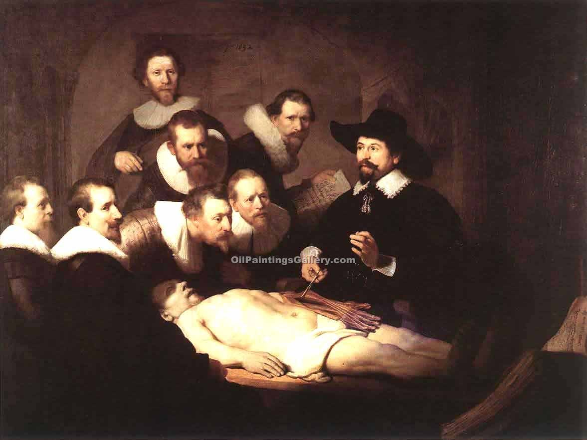 """The Anatomy Lecture of Dr. Nicolaes Tulp"" by  Harmenszoonvan Van Rijn Rembrandt"