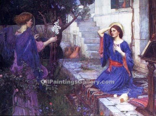"""The Annunciation 28"" by  John William Waterhouse"