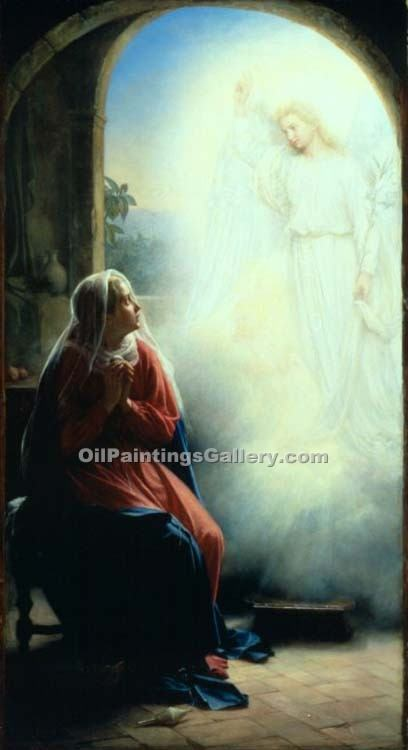 """The Annunciation 54"" by  Carl Heinrich Bloch"