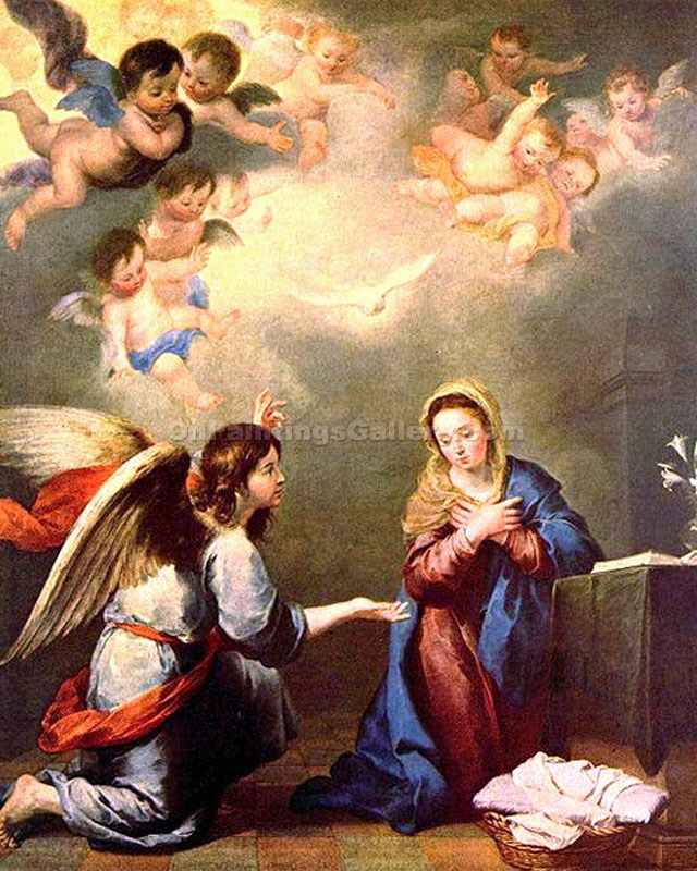 """The Annunciation 81"" by  Francesco Albani"